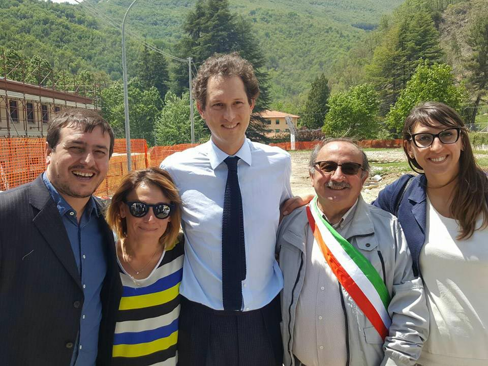 John Elkann e Aleandro Petrucci ad Arquata
