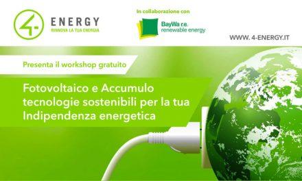Workshop 4Energy, le ultime novità sul fotovoltaico e i sistemi di accumulo