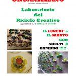 """Il primo laboratorio del """"riciclo creativo"""" per adulti e bambini"""