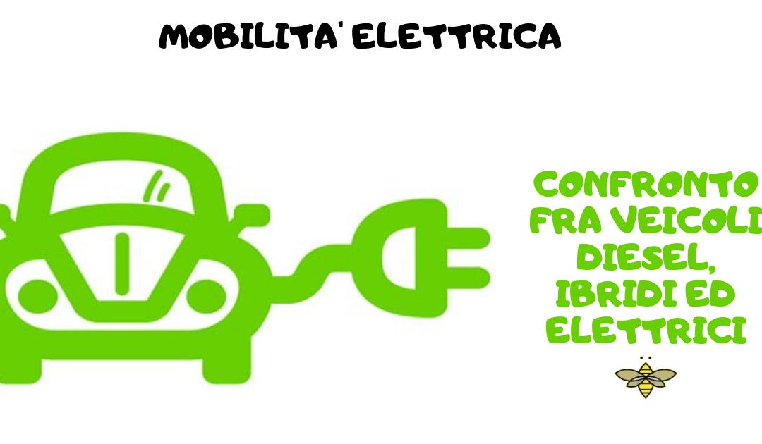 Mobilità: confronto fra veicoli diesel, ibridi ed elettrici