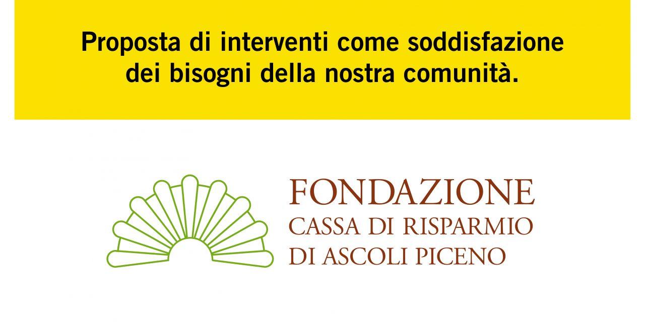Il nostro contributo al Piano Pluriennale Fondazione Carisap 2020-2022.