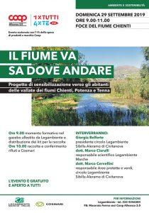 29 Settembre alle ore 9:00 a Civitanova Marche, presso la foce del fiume #Chienti, per una mattinata di sensibilizzazione e di pulizia del nostro amato #fiume