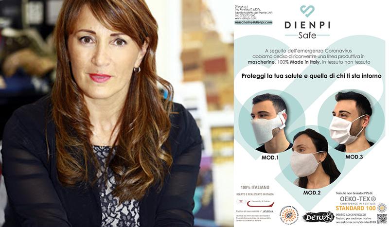 Coronavirus, Dienpi contribuisce alla fornitura di 50.000 mascherine a settimana