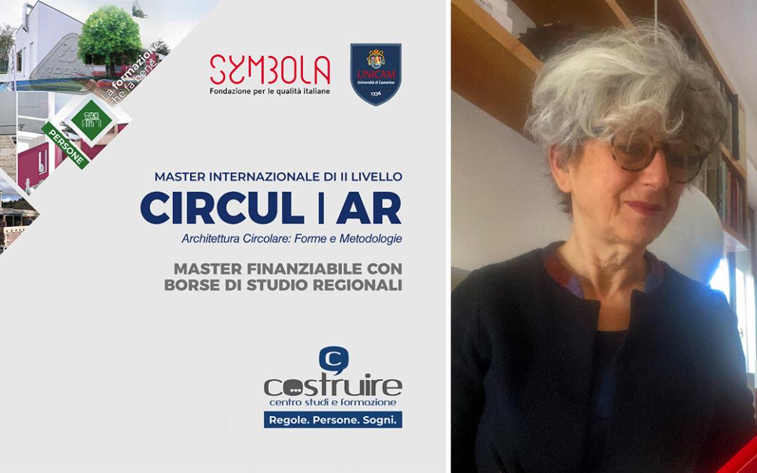 CIRCUL_AR, il nuovo master dedicato all'Economia Circolare applicata all'Architettura